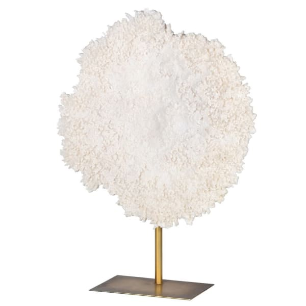 Large White Coral on Stand