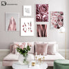 Fashion Poster Rose Flower Art  Painting Modern Decor Picture