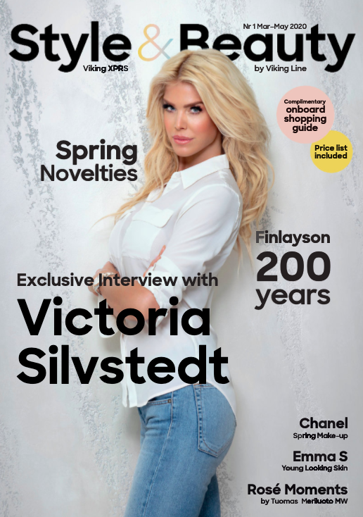 Victoria Silvstedt in a big interview for Vikingline Magazine