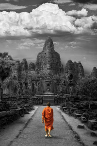 Walk the Bayon - Metal Print