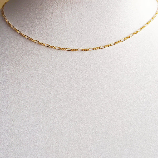 14k Gold Filled Minimalist Link Choker Necklace-Women Necklace-Gold as Ice