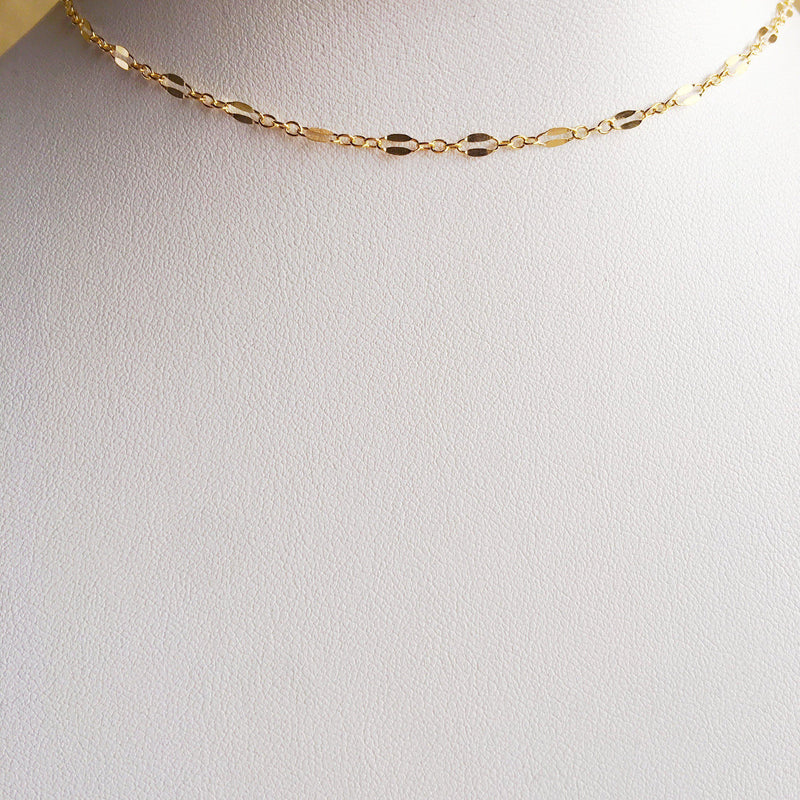 14k Gold Filled Minimalist Parallel Choker Necklace-Women Necklace-Gold as Ice