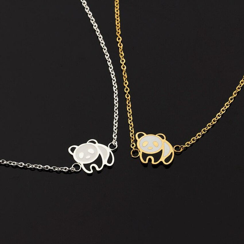 14K Gold Plated Panda Bracelet-Women Bracelet-Gold as Ice