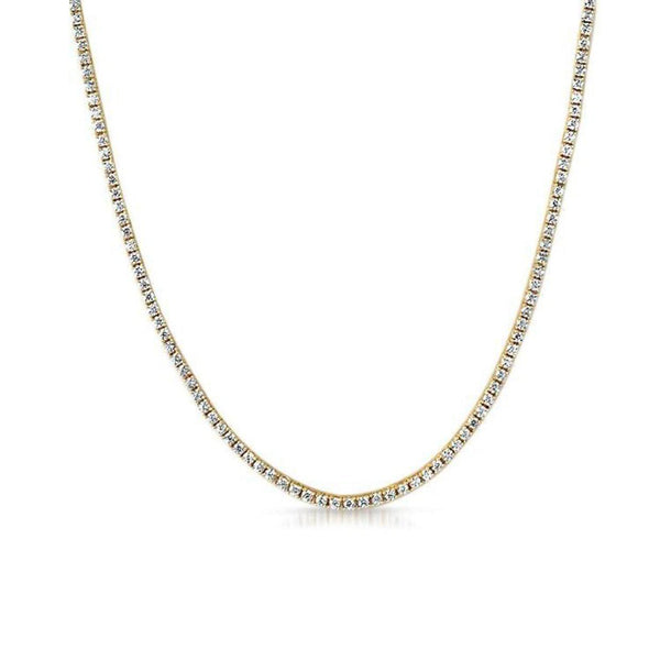 18K Gold Wrapped 2mm Tennis Chain Necklace-Men Necklace-Gold as Ice