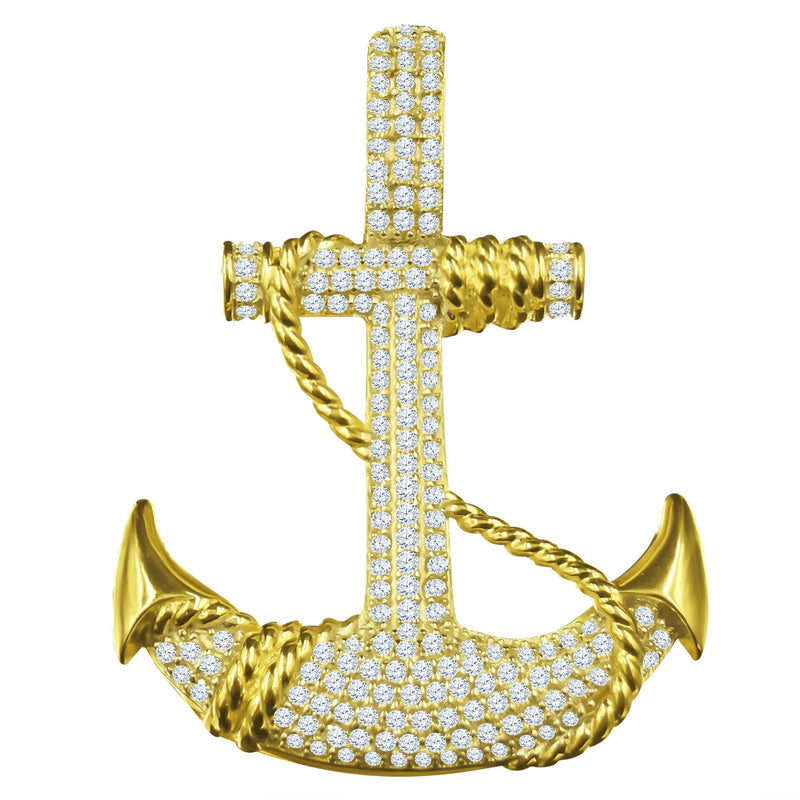 Anchor Pendant in 925 Silver-Jewelry & Watches-Gold as Ice