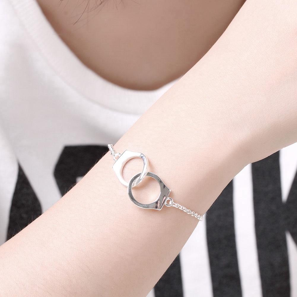 Handcuff Bracelet in 18K White Gold Plated-Women Necklace-Gold as Ice