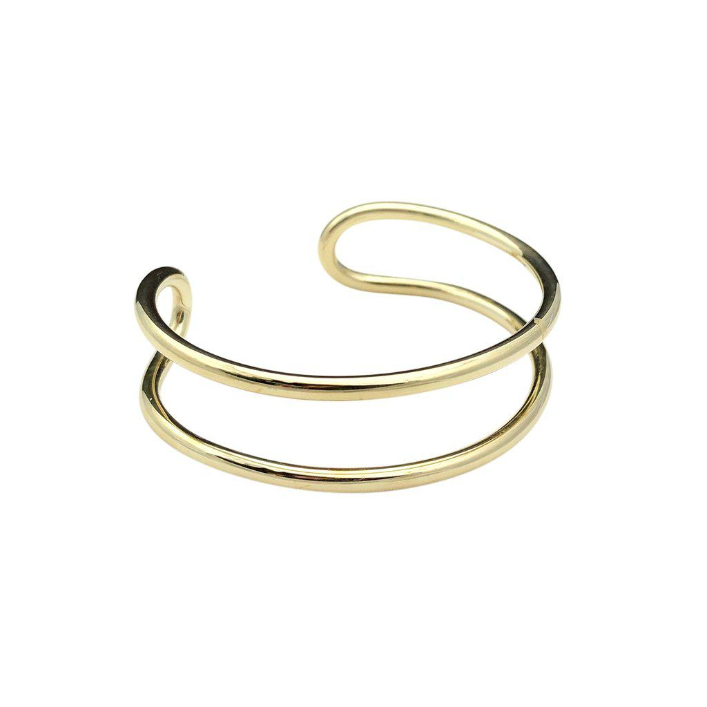 Bombshell Wire Cuff-Women Bracelet-Gold as Ice