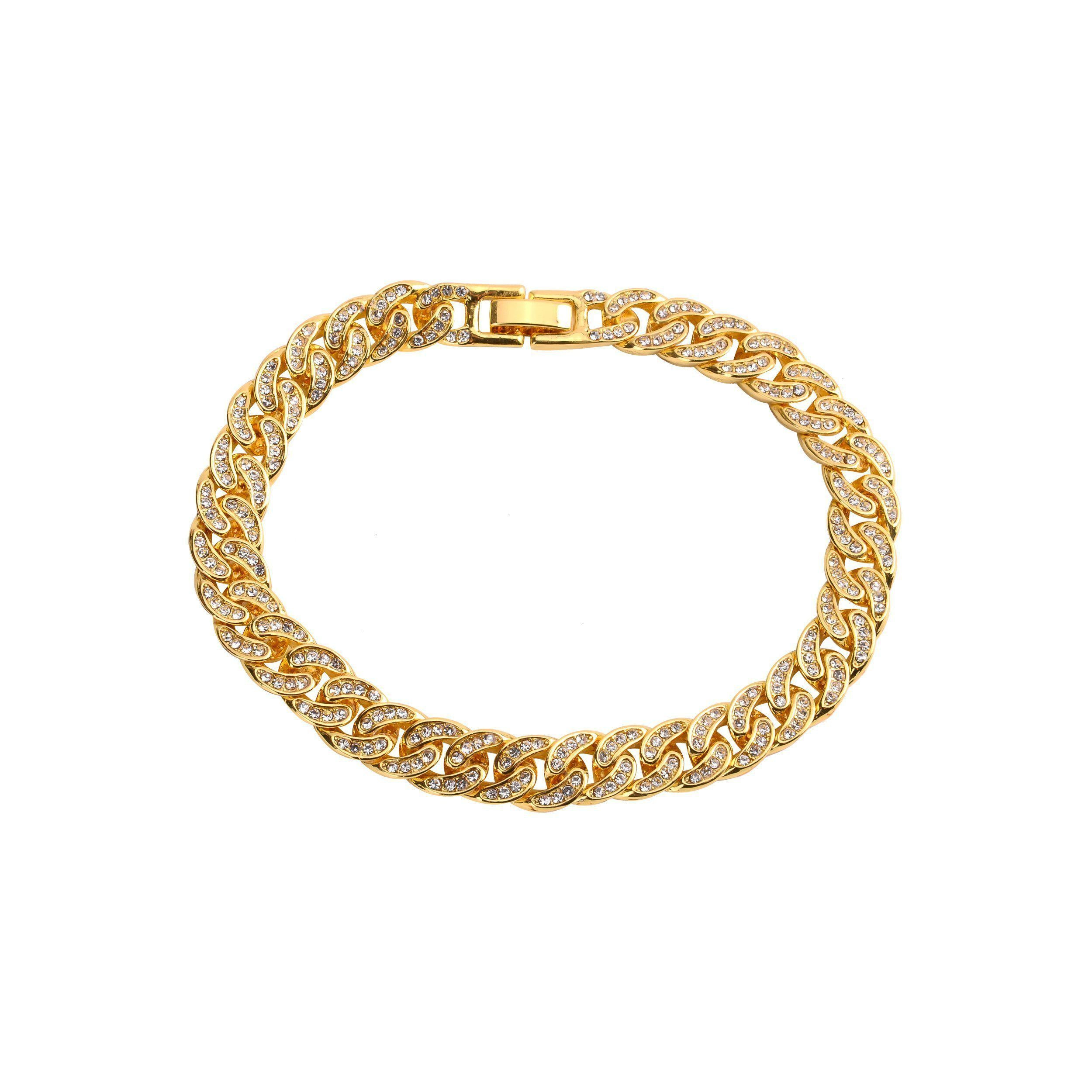 Crew 8mm Cuban Bracelet-Men Bracelet-Gold as Ice