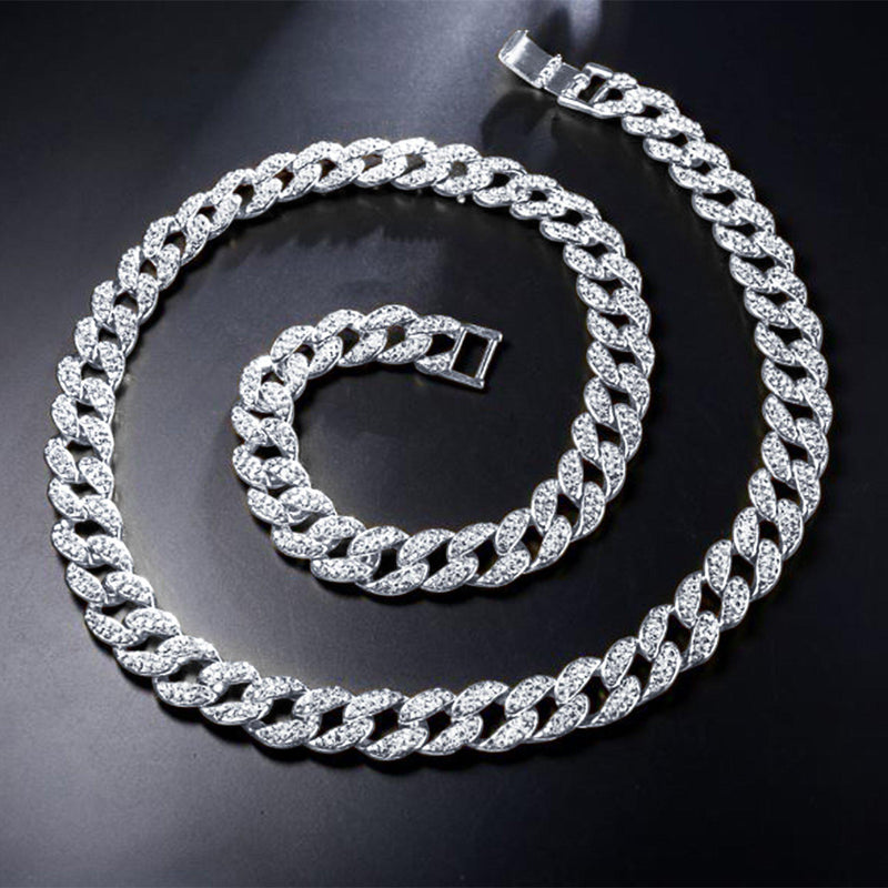 Crew 8mm Cuban Chain-Men Necklace-Gold as Ice