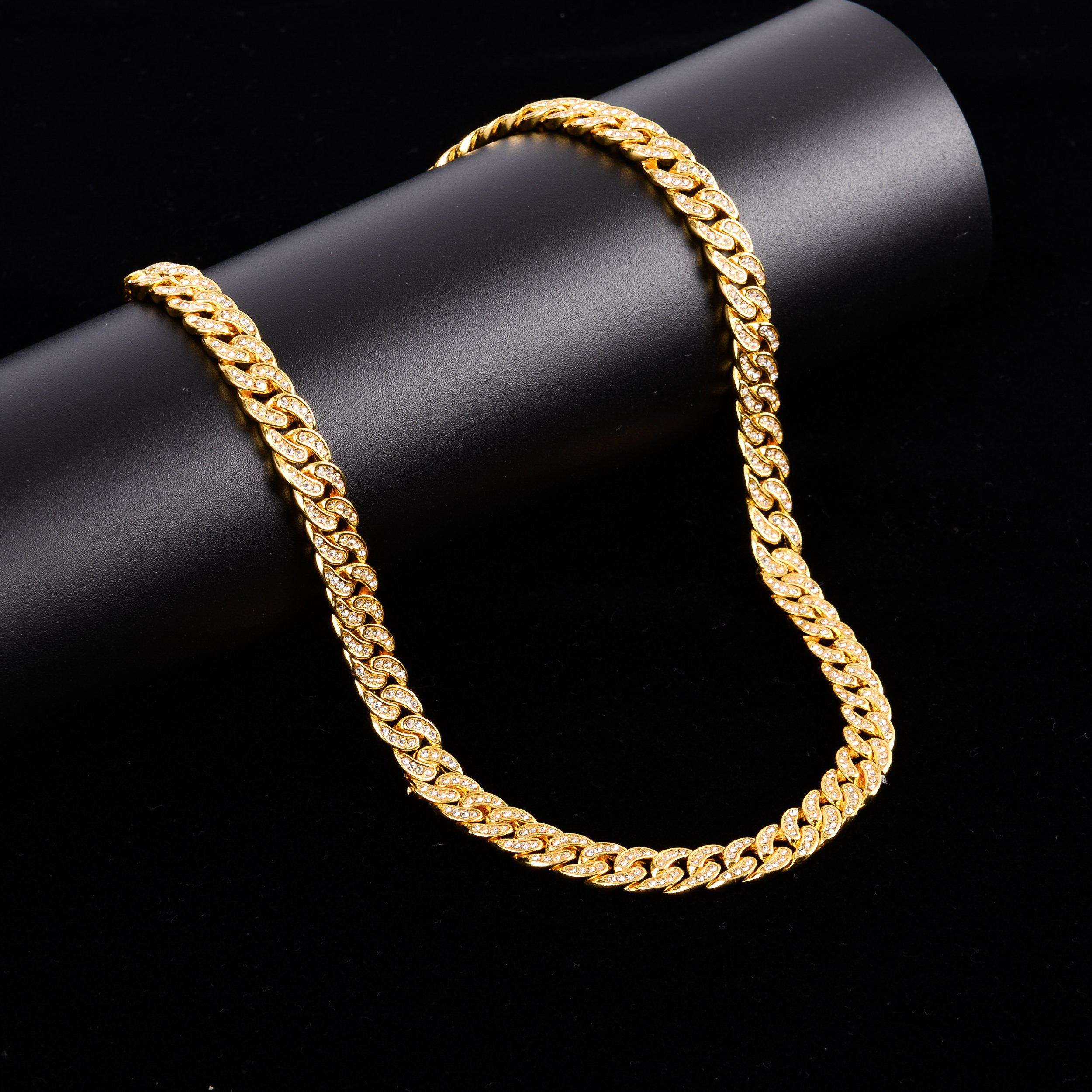 Crew Cm 8mm Cuban Chain-Men Necklace-Gold as Ice