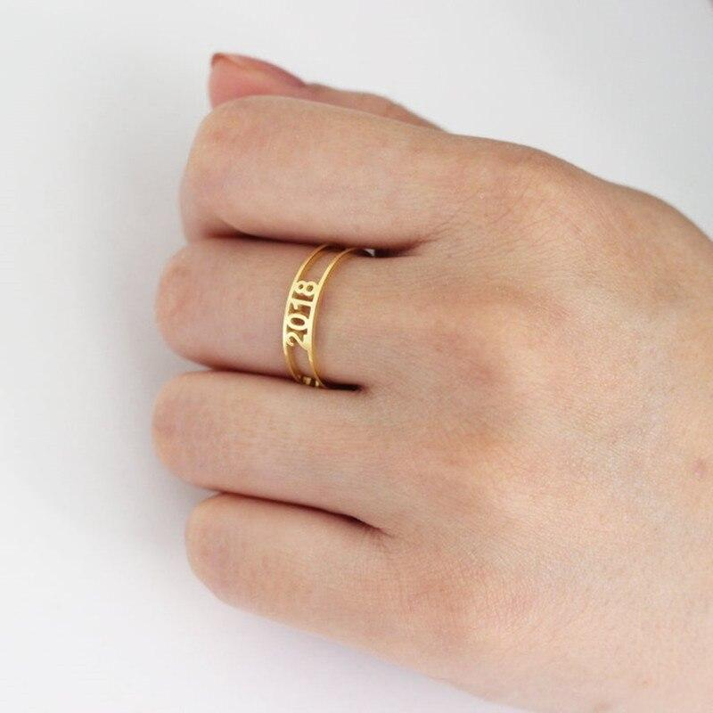 Custom Personalized Name Letters Ring-Women Ring-Gold as Ice