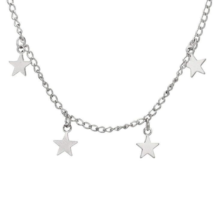 Dangling Star Necklace-Women Necklace-Gold as Ice