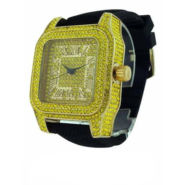 Gold Color Iced Out Watch-Men Watch-Gold as Ice
