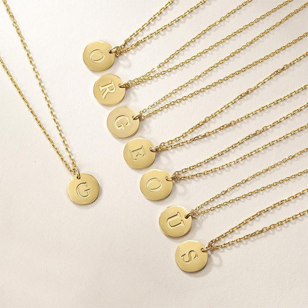 Gold Initial Charmy Necklace-Women Necklace-Gold as Ice