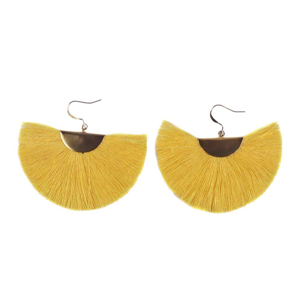 Half Moon Fan Earrings-Women Earring-Gold as Ice