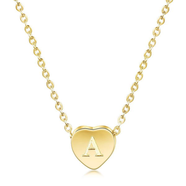 Heart Initial Personalized Necklace-Women Necklace-Gold as Ice