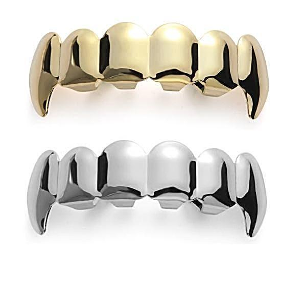 Hip Hop Fang Plain Grillz-Grillz-Gold as Ice