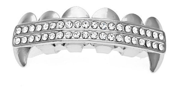 Iced out Fangs Grillz-Grillz-Gold as Ice