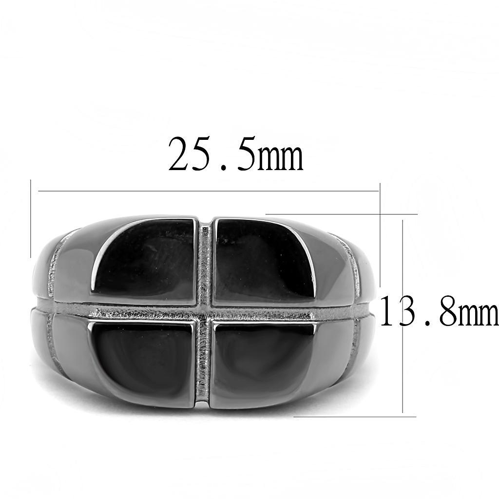 Stainless Steel Black Ring-Men Ring-Gold as Ice