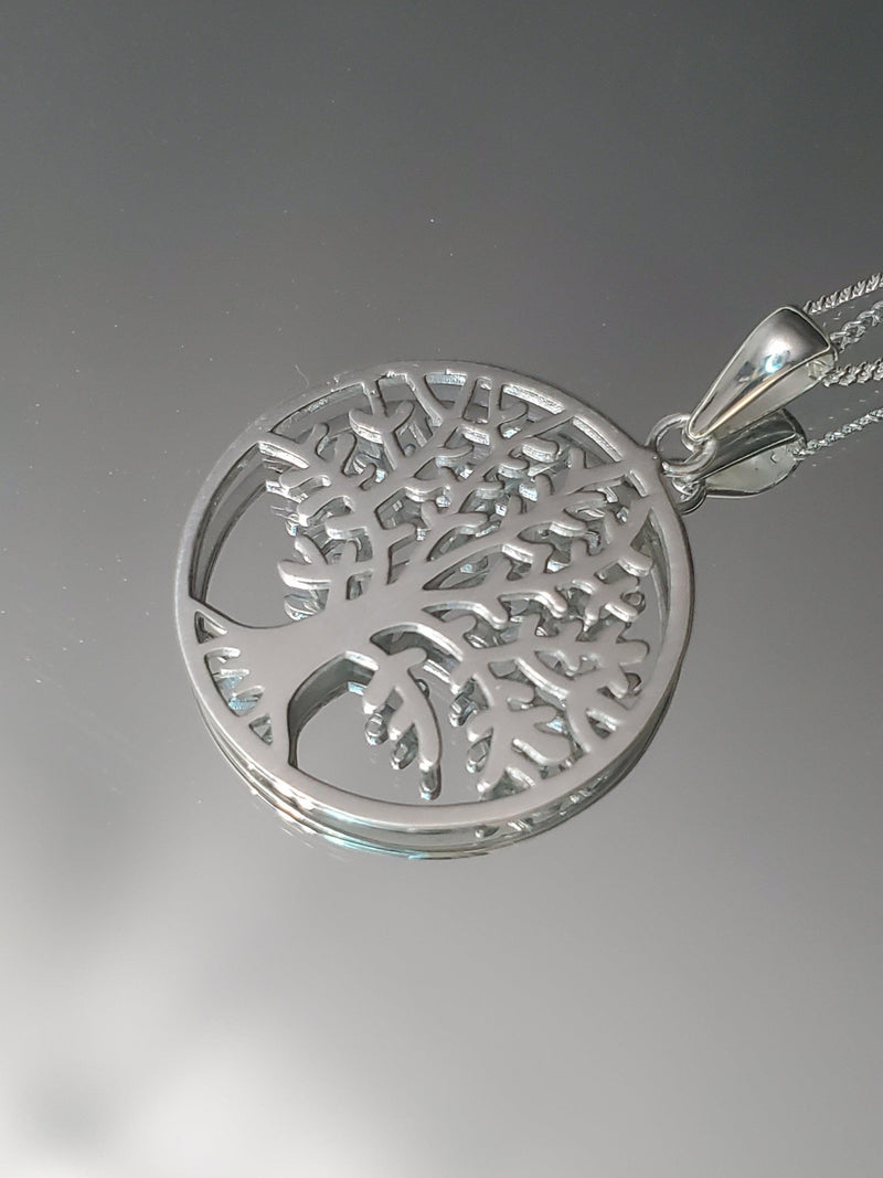 Sterling Silver Tree of life Necklace-Women Necklace-Gold as Ice