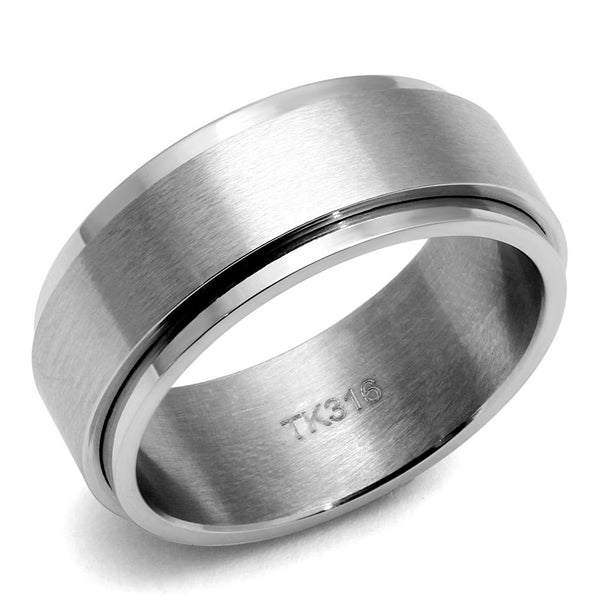 TK2919 High Polished Stainless Steel Ring-Men Ring-Gold as Ice