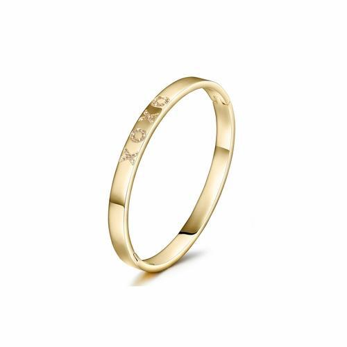 XOXO Love Bangle Bracelet-Women Bracelet-Gold as Ice