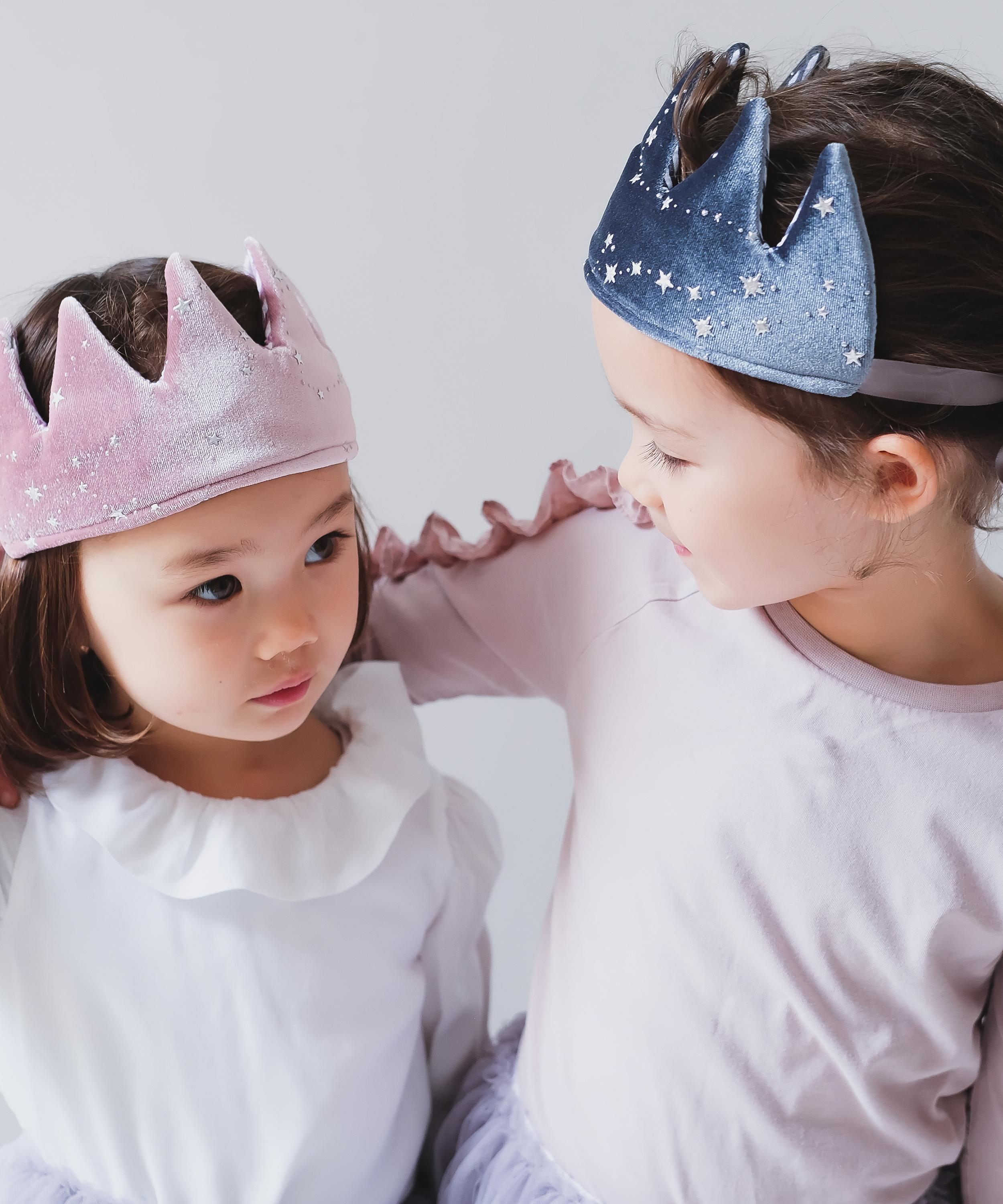 Mimi & Lula Mystical Velvet Crown Grey