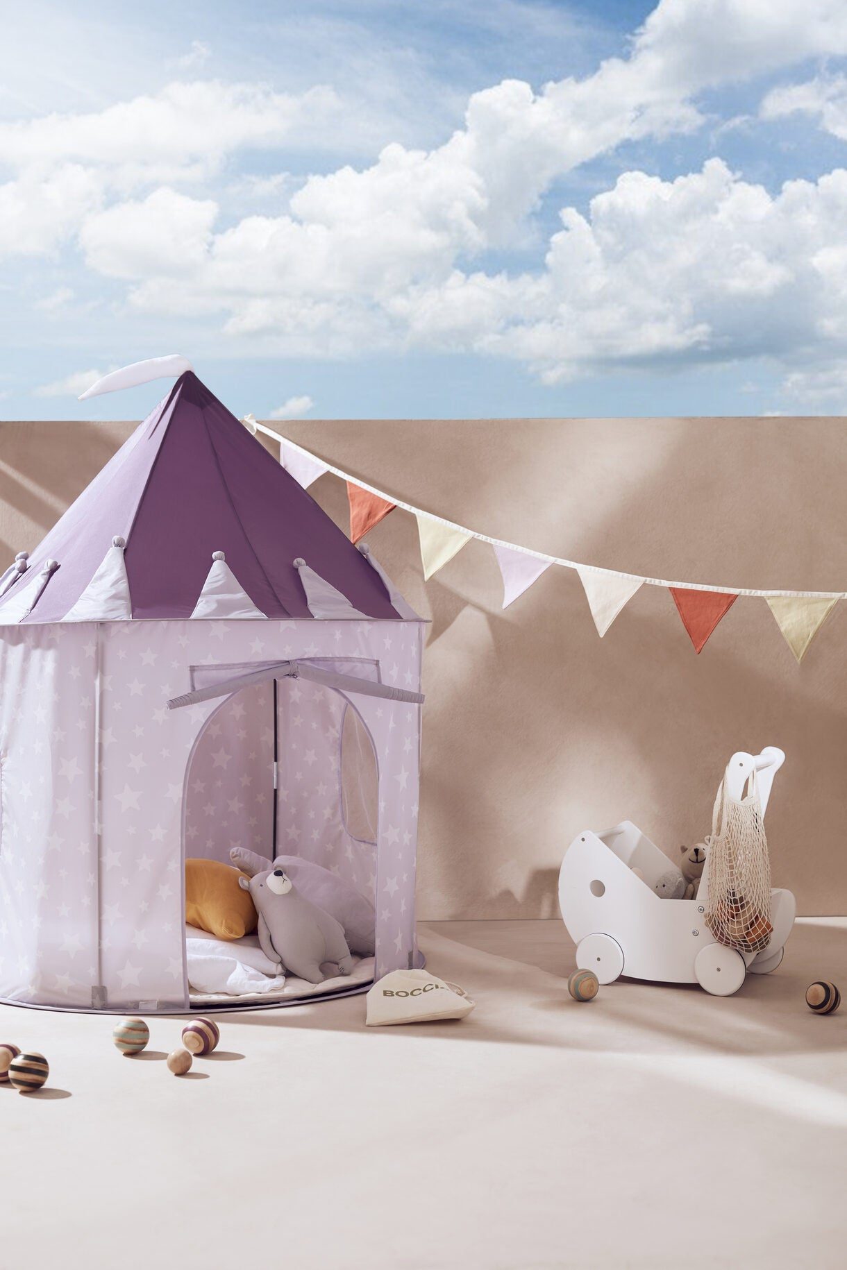 Kids Concept Play Tent Lilac Star