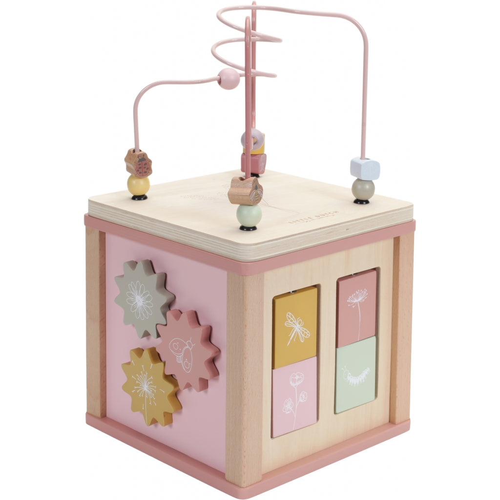 Little Dutch Wooden Activity Cube Flowers