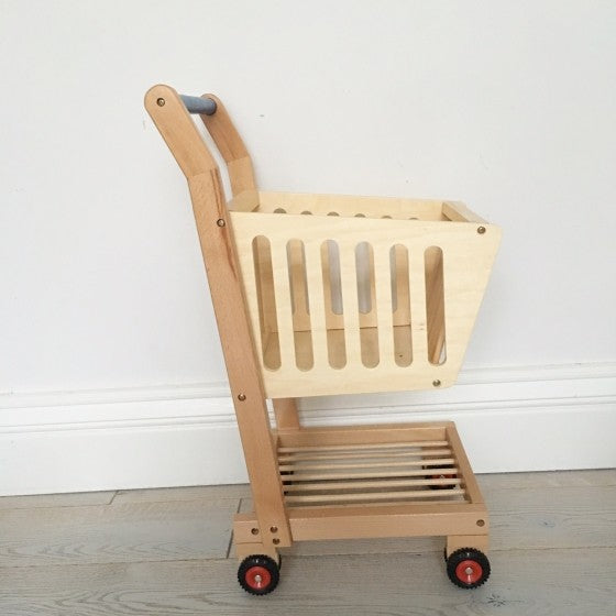 children's wooden shopping trolley