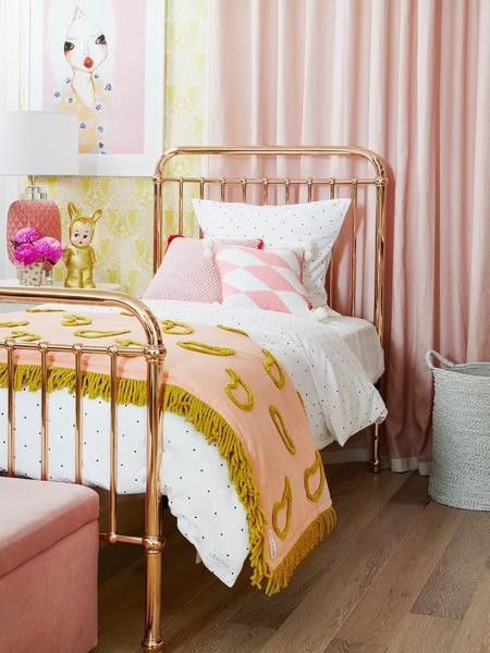 Incy interiors rose gold metal framed single bed