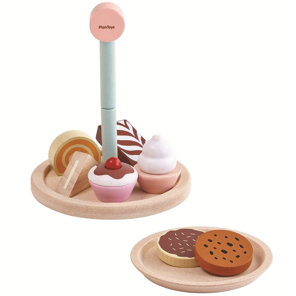 Wooden cake stand set Plan Toys