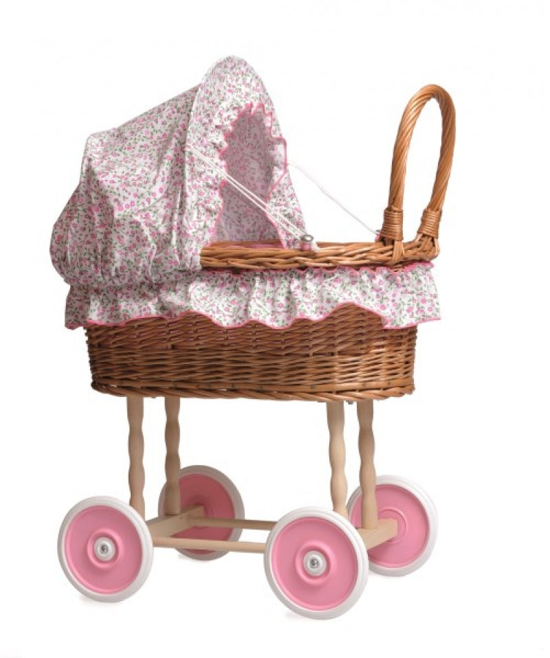Natural Wicker Dolls Pram