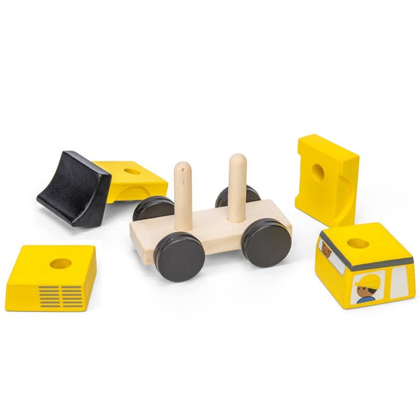 Wooden bulldozer stacker Le Toy Van