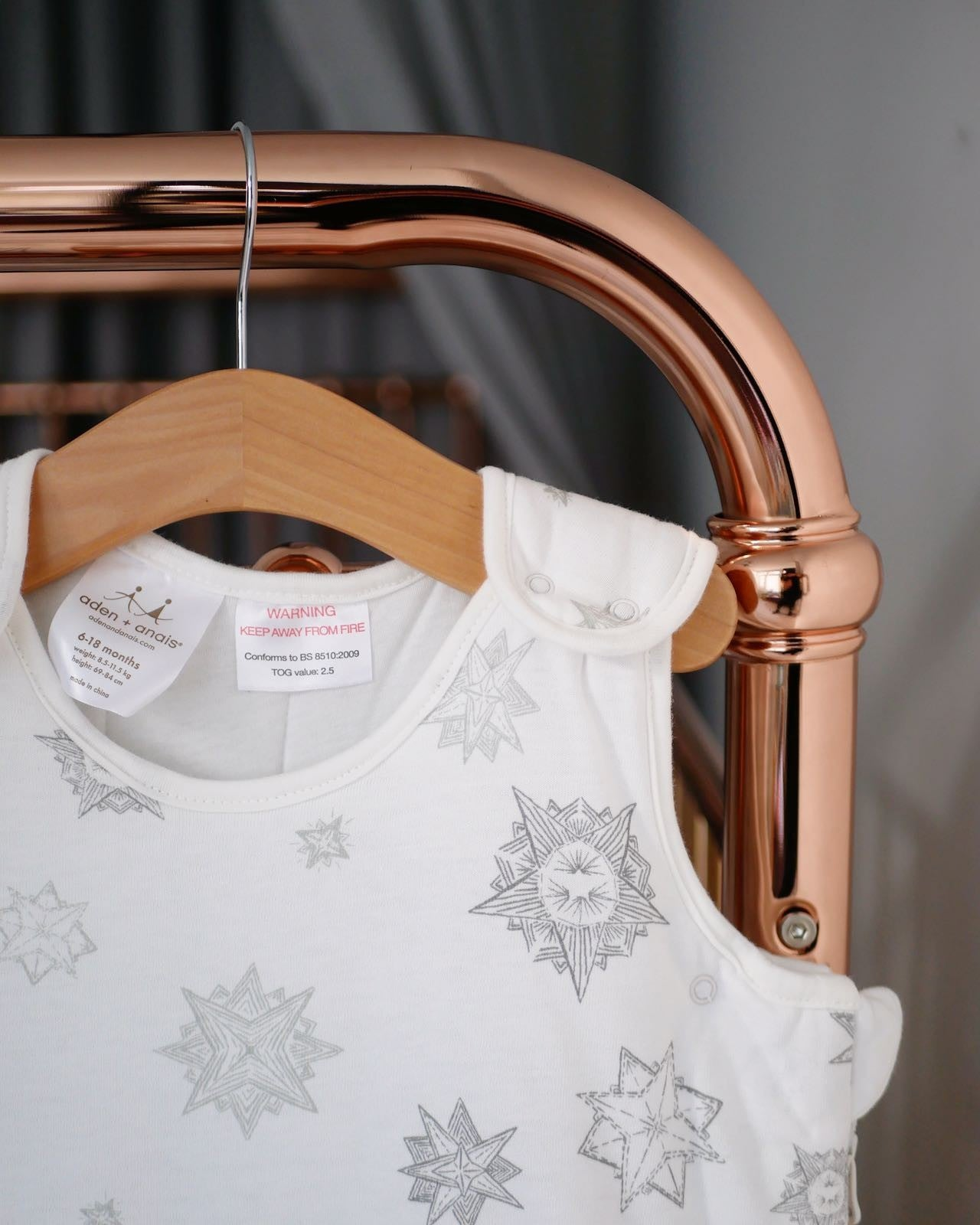Incy Interiors rose Gold baby Cot