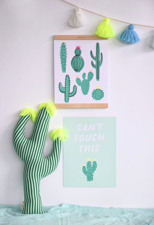 cactus cushion with tassle detail
