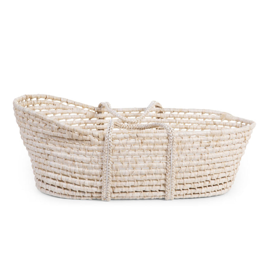Natural wicker moses basket
