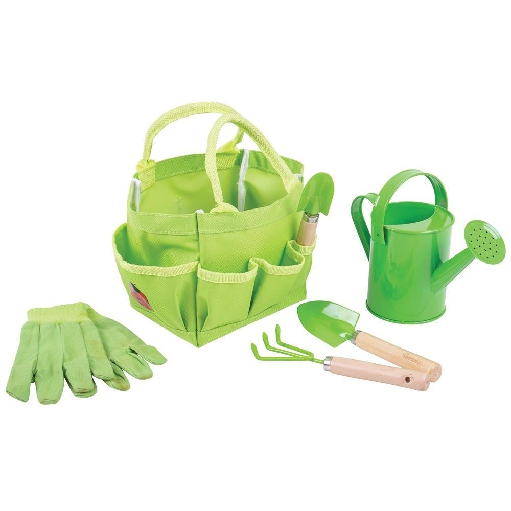 Children's wooden gardening set