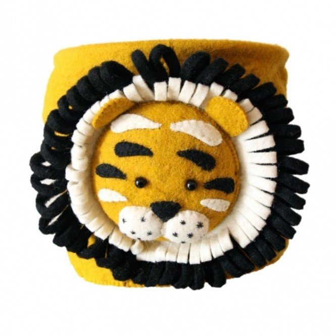 Tiger animal head basket