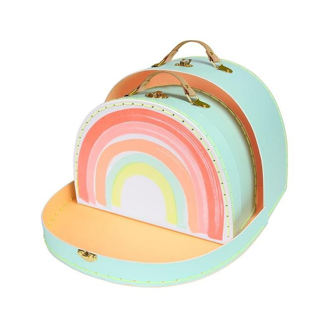Rainbow suitcase set Meri Meri