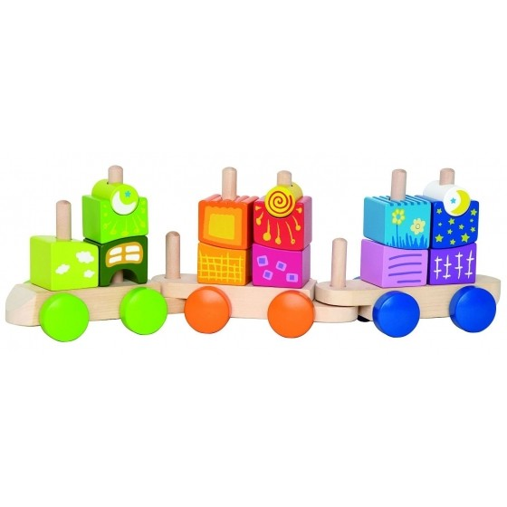 Wooden blocks train - Hape Toys