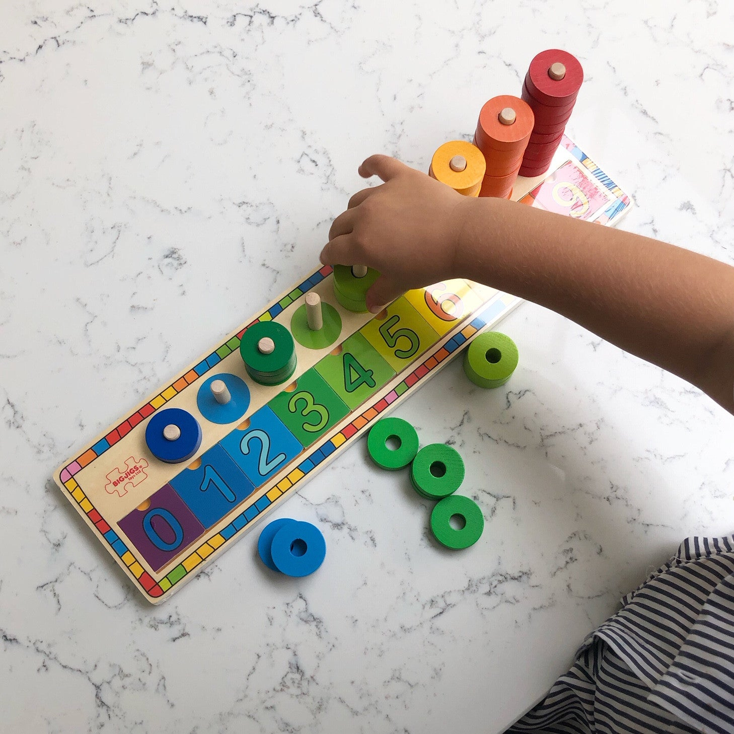 Learn to count educational wooden toy