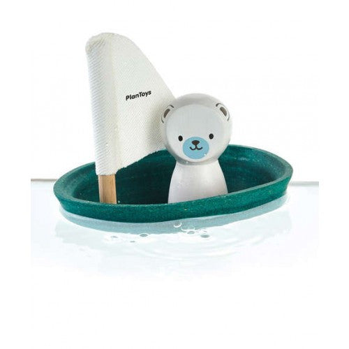Wooden bath toy - polar bear