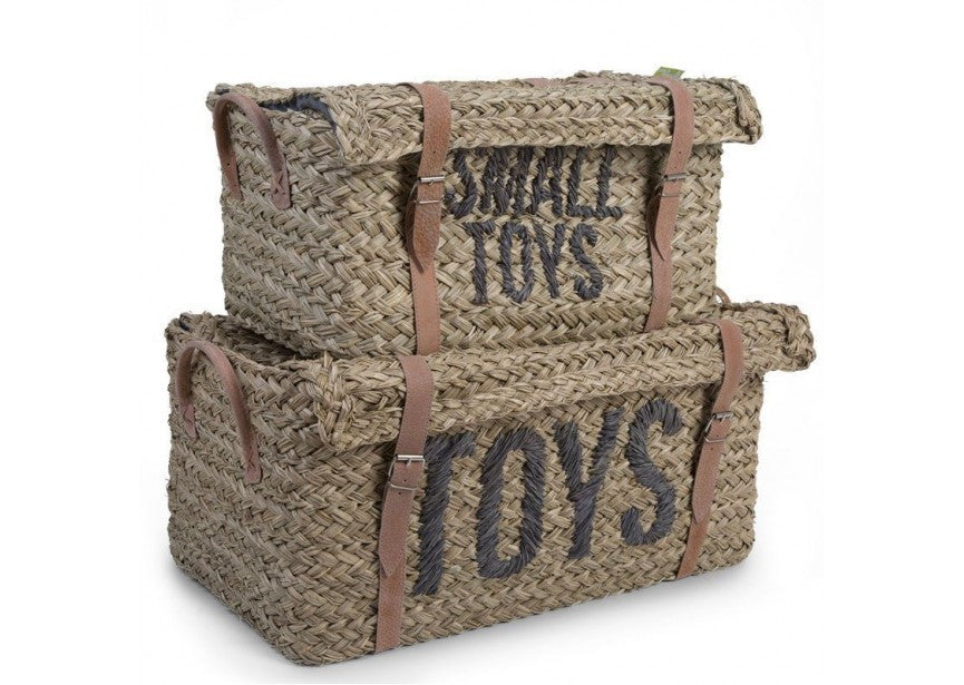 Rattan toy basket set