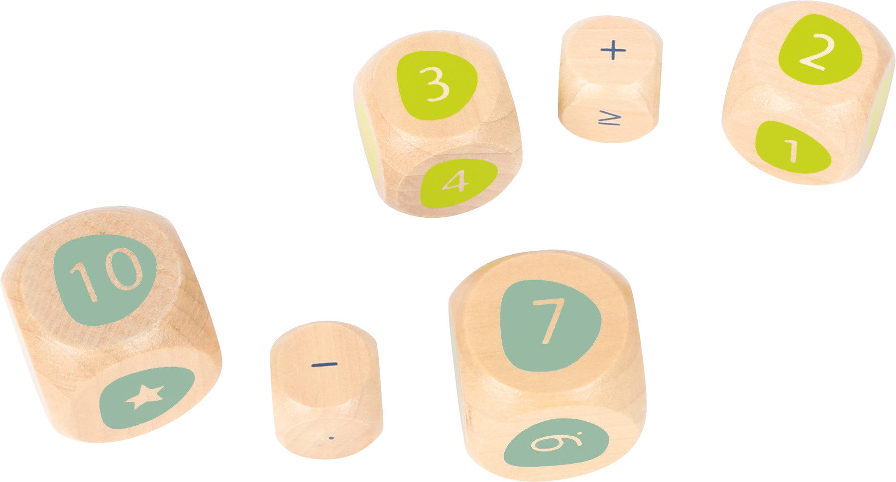wooden maths dice