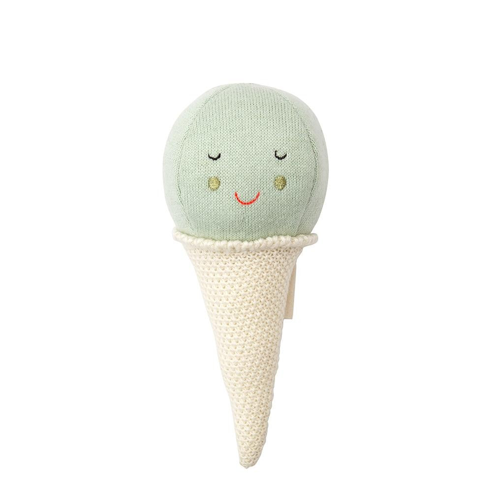 Mint Ice cream baby rattle Meri Meri
