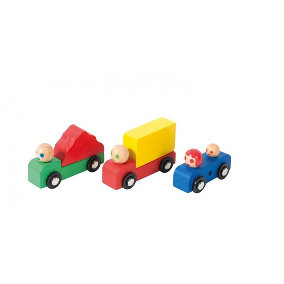 Moulin Roty wooden cars set
