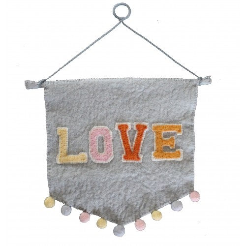 Pastel Love wall pennant Fiona Walker