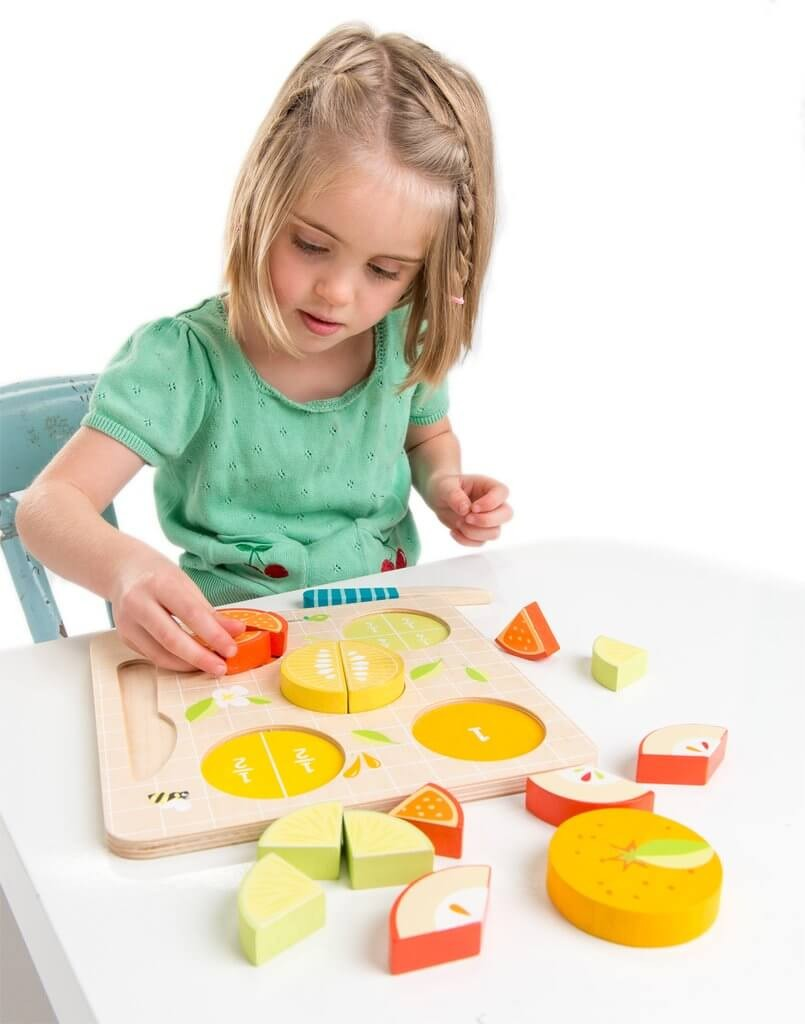Citrus fractions puzzle Tender Leaf toys