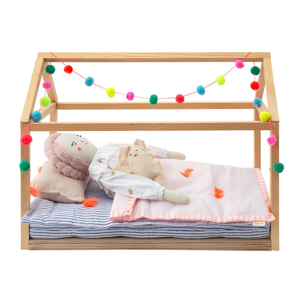 Meri Meri wooden dolls bed